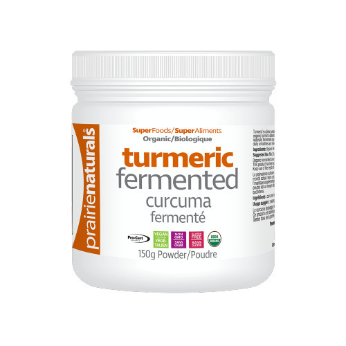 Prairie Naturals Fermented Turmeric powder, canada.  150 grams