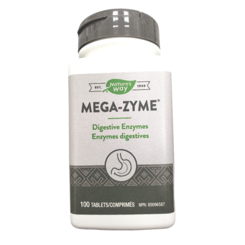 Nature's Way Mega-Zyme Digestive Enzymes 100 tablets Canada