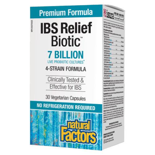 Natural Factors IBS Relief Biotic 30 vgetarian capsules Canada