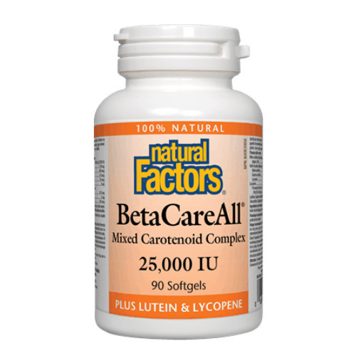 Natural Factors BetaCareAll Mixed Carotenoid Complex  90 soiftgels