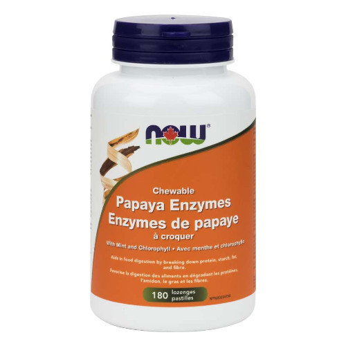 NOW Papaya Enzymes Chewable Digestion Canada