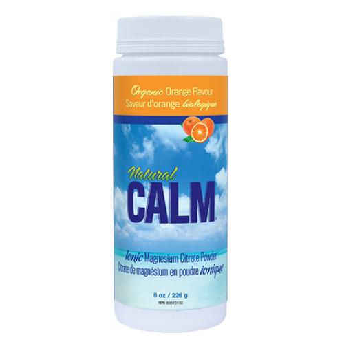 Natural Calm Ionic Magnesium Citrate Powder Organic Orange 228 grams