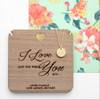 Personalised Just The Way You Are Necklace & Keepsake - 2