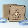 Personalised Love Birds Necklace & Keepsake