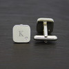 Silver Plated Cufflinks with Diamante - 2