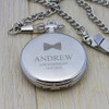 Personalised 1860 Pocket Watch - Bow Tie