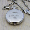 Personalised 1860 Pocket Watch - Moustache