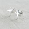 Spang;e Personalised - Sterling Silver Cross Stud Earrings