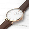 Men's Personalised Leather Watch - Brown