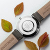Men's Personalised Leather Watch - Ash