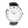 Men's Personalised Leather Watch - Black
