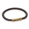 Fred Bennett Black/Brown Leather Woven Bracelet - B5061