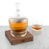Monogrammed LSA Whisky Decanter with Walnut Base - 3