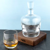 Monogrammed LSA Whisky Decanter with Walnut Base - 4