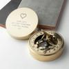 Brass Sundial Compass - Heart