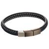 Fred Bennett Plaited Navy Leather Bracelet
