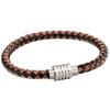 Fred Bennett Woven Black/Brown Leather Bracelet