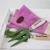Personalised Pink Leather Gardening Gloves - Image 4