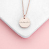 Personalised Disc Necklace -  Rose Gold
