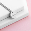Personalised Disc Necklace - Silver