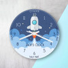 Personalised Kids Space Shuttle Glass Clock