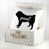 Personalised Pug Silhouette Cushion Cover - Pic 2