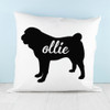 Personalised Pug Silhouette Cushion Cover - Pic 5
