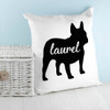 Personalised Bulldog Silhouette Cushion Cover - Pic 2