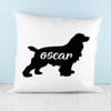 Personalised Cocker Spaniel Silhouette Cushion Cover - Pic 3