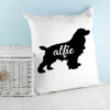 Personalised Cocker Spaniel Silhouette Cushion Cover - Pic 4