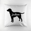 Personalised Labrador Silhouette Cushion Cover - Pic 1