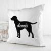 Personalised Labrador Silhouette Cushion Cover - Pic 2