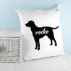Personalised Labrador Silhouette Cushion Cover - Pic 3