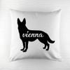 Personalised German Shepherd Silhouette Cushion Cover - Pic 1