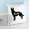 Personalised German Shepherd Silhouette Cushion Cover - Pic 2