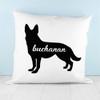 Personalised German Shepherd Silhouette Cushion Cover - Pic 3