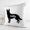 Personalised German Shepherd Silhouette Cushion Cover - Pic 4
