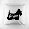 Personalised Scottish Terrier Silhouette Cushion Cover - Pic 1