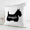 Personalised Scottish Terrier Silhouette Cushion Cover - Pic 4