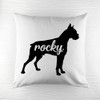 Personalised Boxer Silhouette Cushion Cover - Pic 1