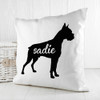 Personalised Boxer Silhouette Cushion Cover - Pic 2