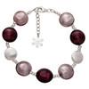Valentina Murano Glass Disc Bracelet Amethyst