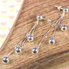 Silver Cascade Earrings