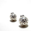 Polka Dot Silver Earrings