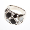 Silver Onyx & Mother of Pearl Ring