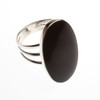 Silver Onyx Oval Ring
