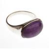 Silver Amethyst Oval Ring