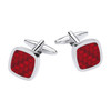 Gaventa Red Enamel Cufflinks