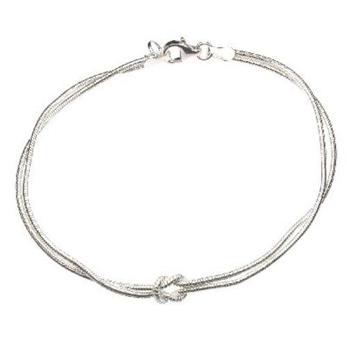 Silver Love Knot Snake Bracelet