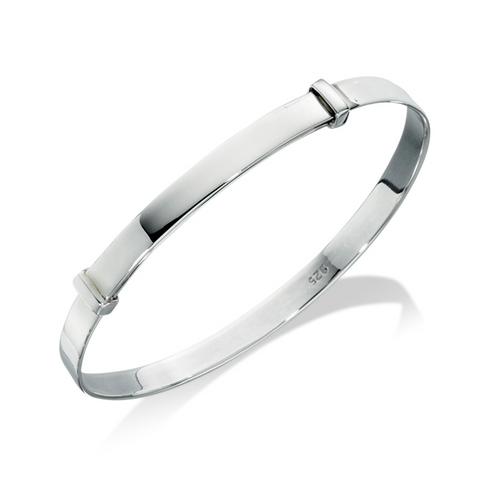 Silver Expandable Child's Bangle